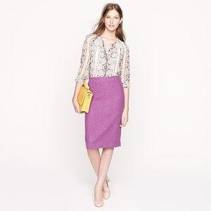 J Crew Sz 4 No 2 Pencil Skirt purple orchid wool